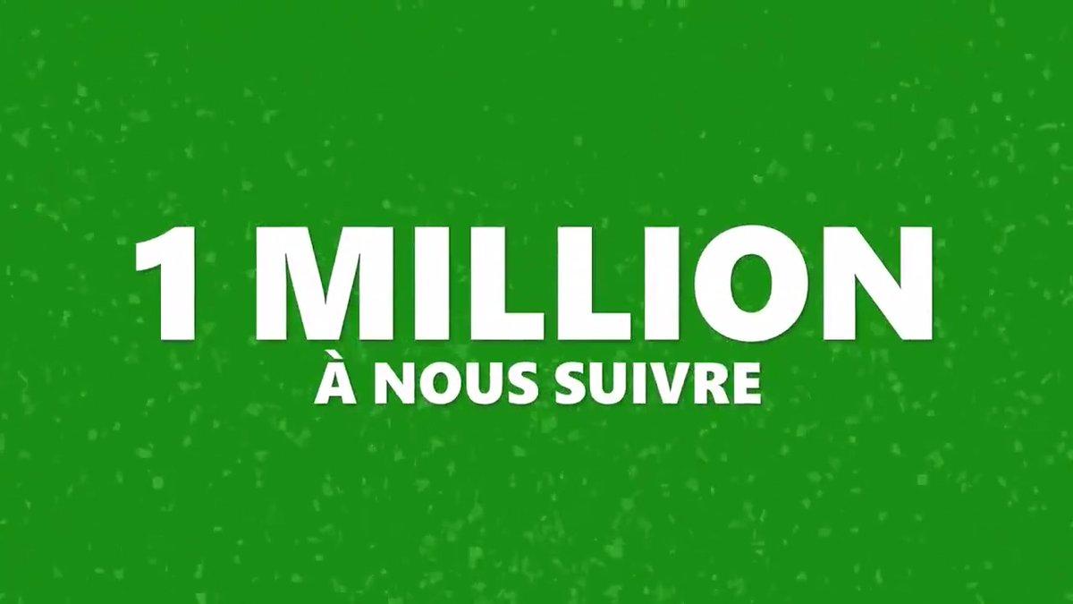 1 million d'abonnés ?!  C'est le résultat d'une belle histoire d'amour avec vous 💚 Et elle s'écrit en tweets ! #XboxSeries