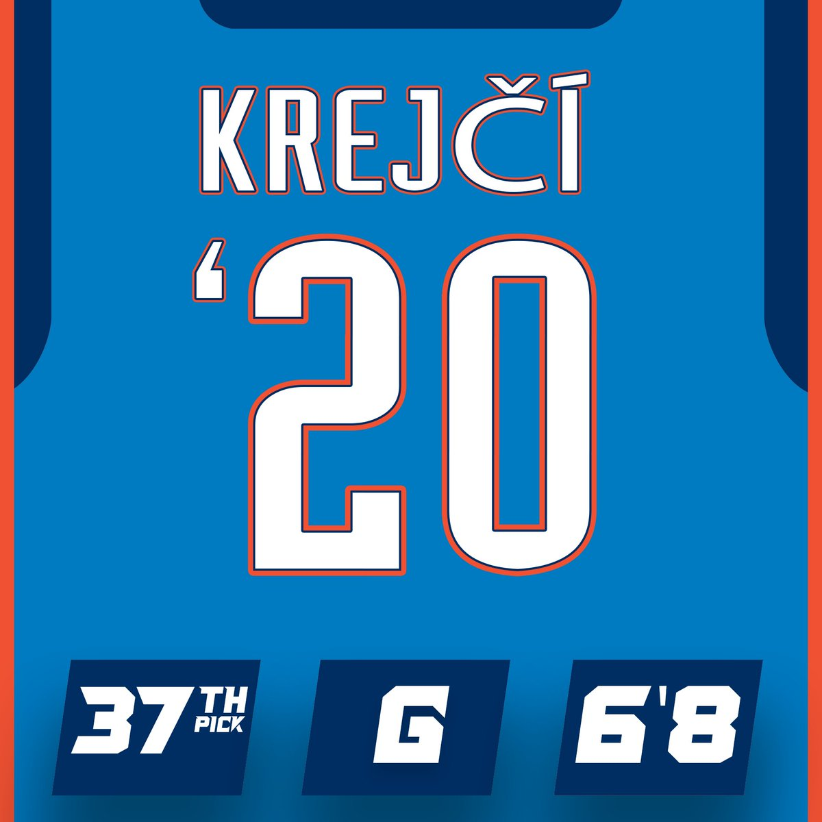 It's official! The Thunder have acquired the draft rights to the 37th overall pick, Vít Krejčí 😃  @okcthunder | #ThunderUp https://t.co/qCIDyjKU44