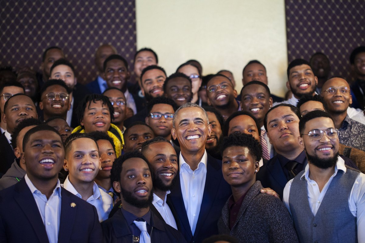 Tonight at 10 pm ET, don't miss @BarackObama alongside MBK youth and community leaders on @MSNBC for a special conversation on leadership, democracy, and opportunity.  For #TBT, we're revisiting some of our favorite moments with President Obama. #WeAreMBK
