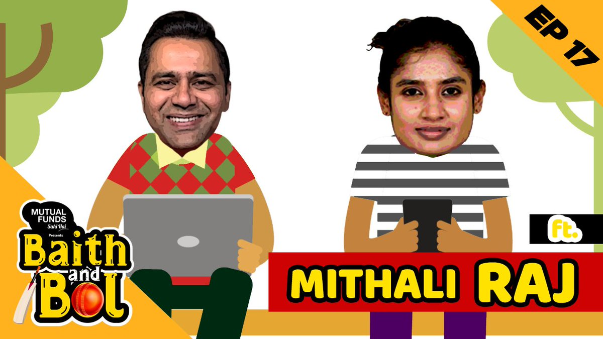 The Queen of Cricket is my next guest on @MFSahiHai presents 'Baith aur Bol'. Much to talk about, so join me tomorrow exclusively on my Youtube Channel to celebrate the Wonder Woman of Indian Cricket that is @M_Raj03.