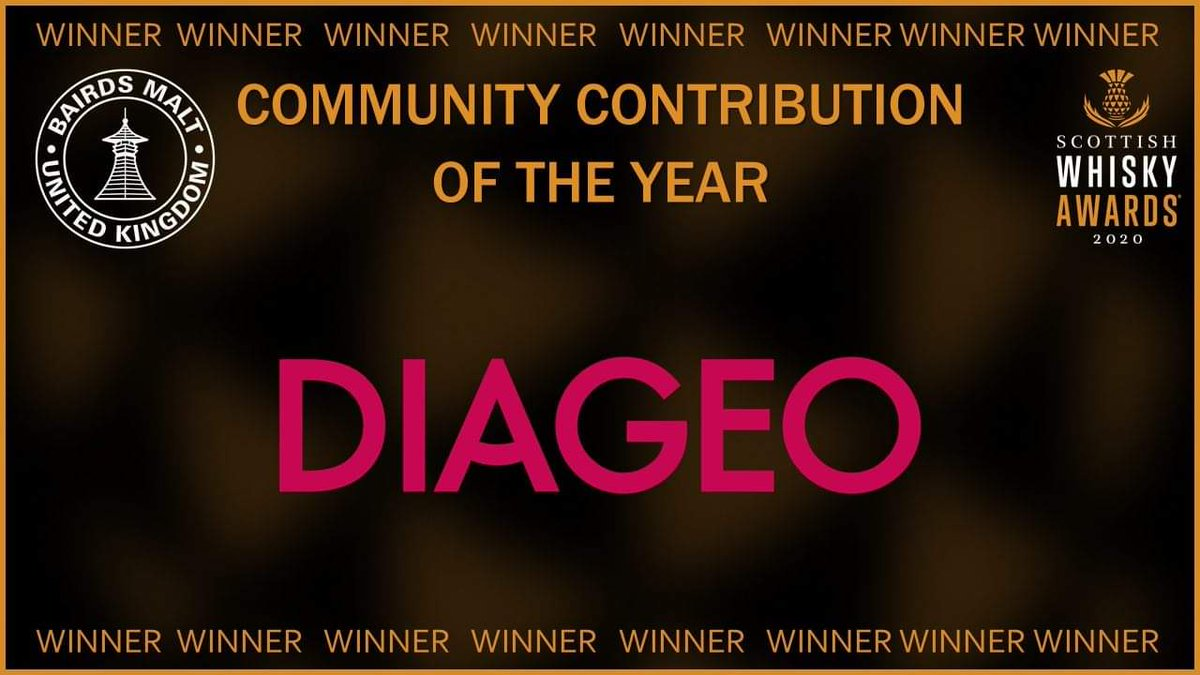 A great evening at the @whisky_awards and congratulations again to @DiageoGB for winning the Community Contribution Award 🥇 #whiskyawards20 https://t.co/cKWxuwKQFQ