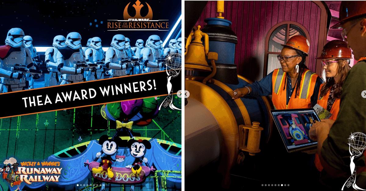 Two #Disney Attractions Win 'Outstanding Achievement' Awards! #thea #mickeyandminniesrunawayrailway #riseoftheresistance