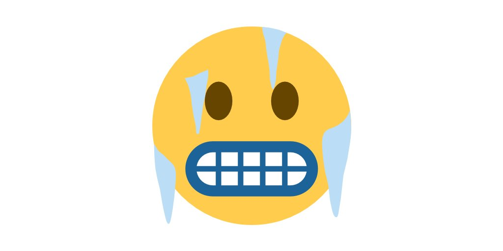 🥶 cold + 😦 scowl =
