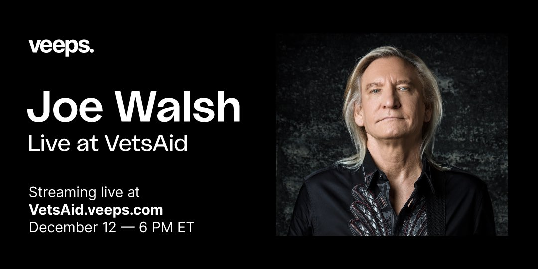 .@JoeWalsh presents VetsAid 2020: Home for the Holidays, ft. music & stories from the greatest musicians in the world on 12/12. Tickets on sale now!