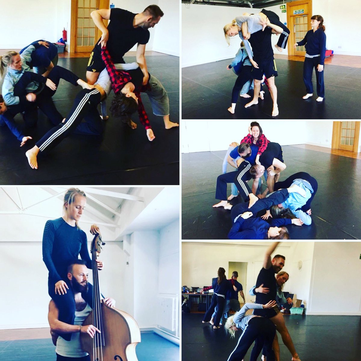 #ThrowbackThursday | Dydd Iau Taflu yn ol to our 'Murmur' rehearsals at @BarryMemo in 2018. Rehearsals look a little different today!...Hopefully we'll be lifting, leaning and tangling in the studio again soon!  #contemporarydance #rehearsals #contactimprovisation #Murmurpremiere