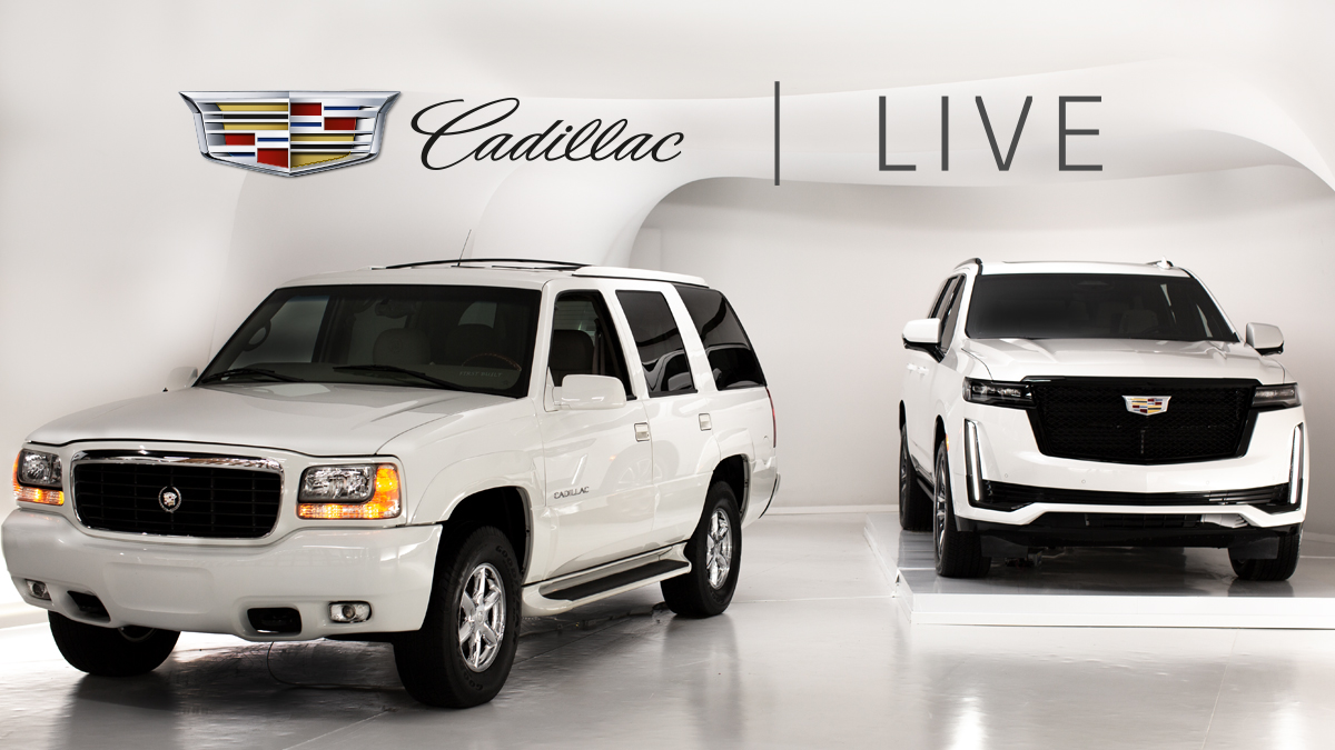 Tonight is the night. Experience the evolution of Escalade LIVE. Tune into Instagram to see the original and the Next-Generation #2021Escalade in the Cadillac Live Studio 7 PM EST — when we go LIVE with special guests. #NeverStopArriving