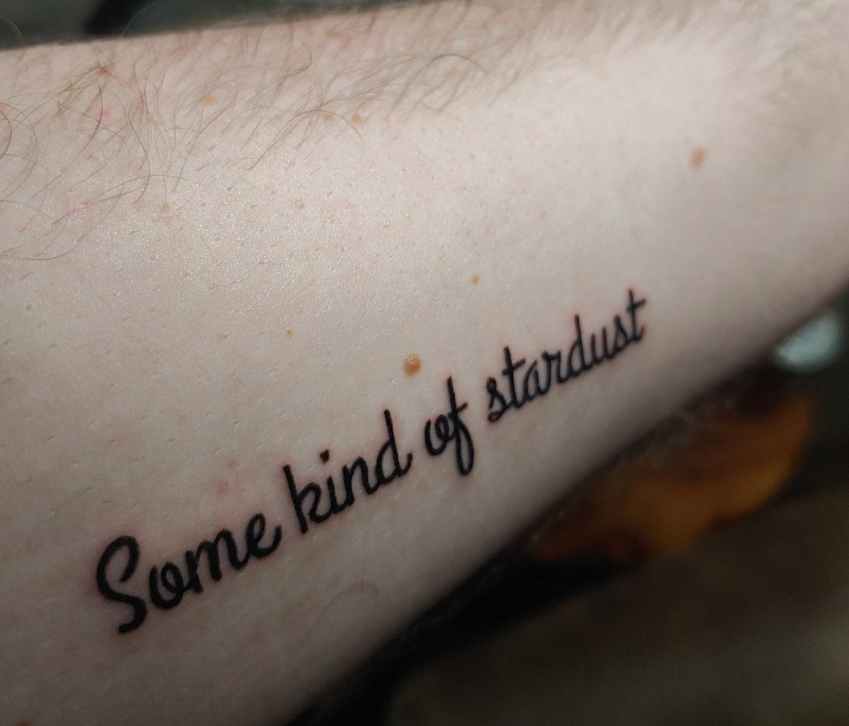 "The Webster Hall Badlands show was so special and inspiring to me, I got a tattoo to remember it forever. The ""Some Kind Of Stardust"" speech particularly moved me. I am forever grateful to Halsey and everyone on here. Halsey has built a whole vibrant community with her art."