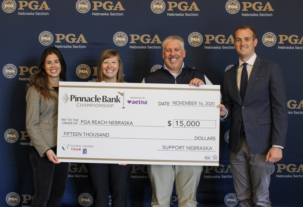 Thank you to @pinnbankgolf for the gracious gift to @PGAREACHNeb. https://t.co/CdDQMLRi82