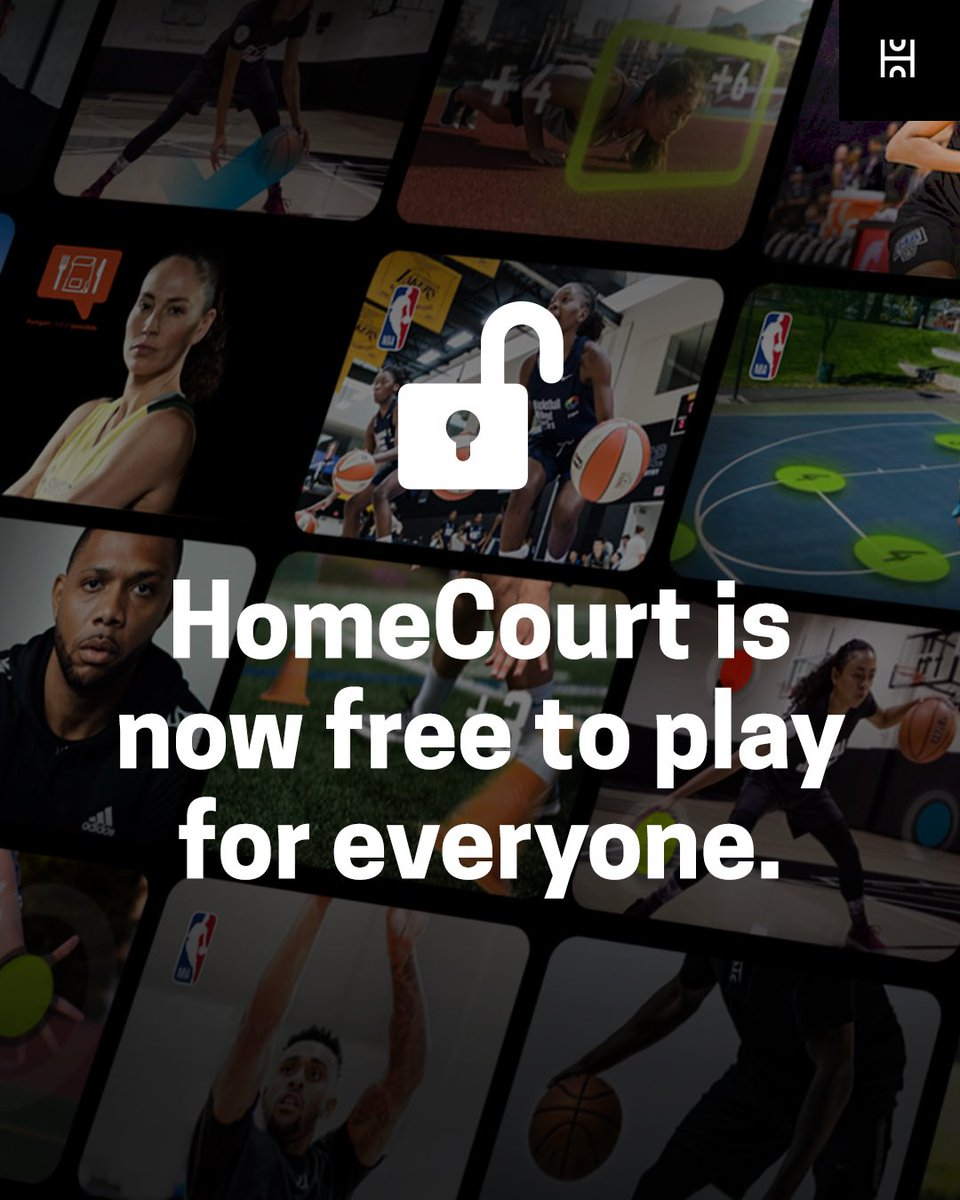 To better serve the global community, we are excited to announce that HomeCourt will now be free to play moving forward.  We're also working to make our subscription even better with a new membership experience. Learn more at   #homecourtai #freetoplay