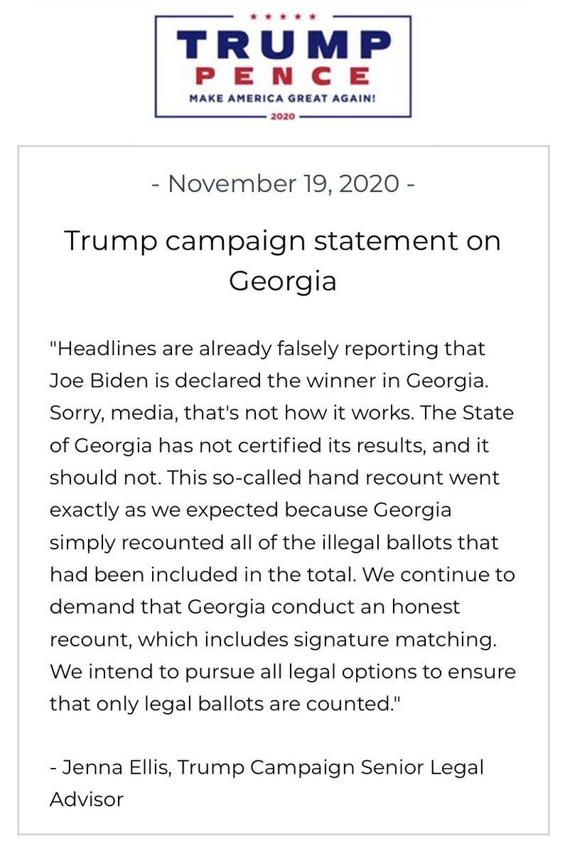 🚨@TeamTrump statement on Georgia