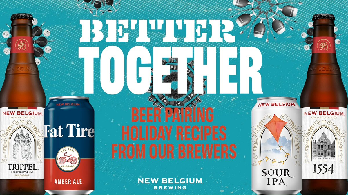 We asked our Pilot Brewer, Cody Reif, and Wood Cellar Blender, Lauren Limbach, to create their favorite holiday dishes to pair with a few New Belgium classics. While great apart, they're even better together. bit.ly/2K6jtzI