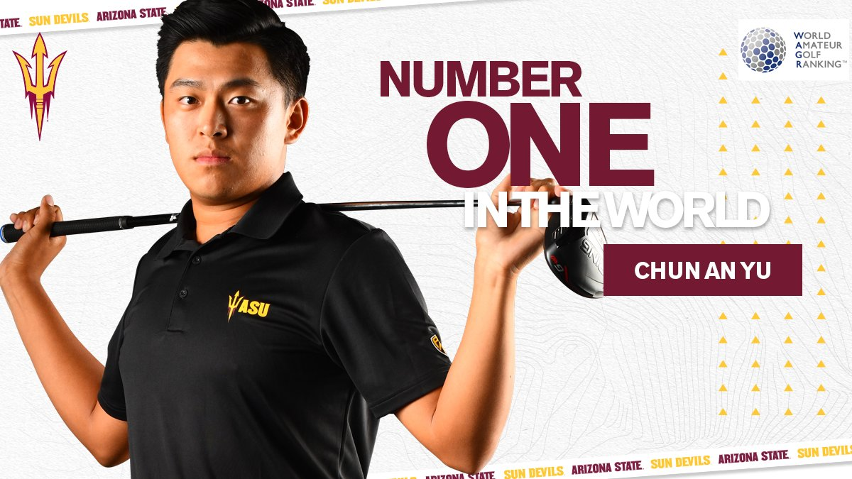.@SunDevilMGolf's @KevinGolfYu is officially the No. 1 Amateur Golfer in the World 🌎