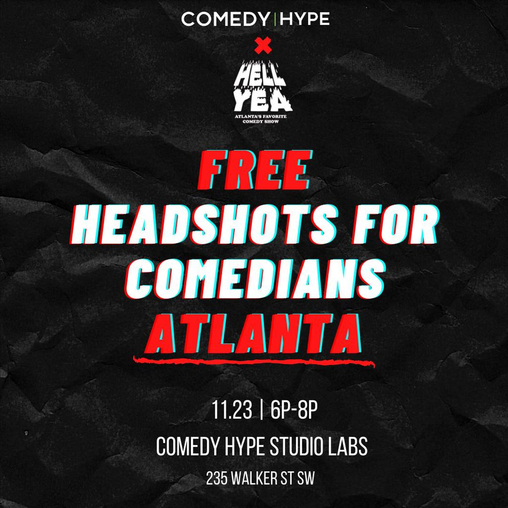 Comedians who will be in Atlanta on Monday (11/23), We got you 📸📸📸 along with @HellYeaComedy 🔥🔥  We appreciate the laughs you've given us.