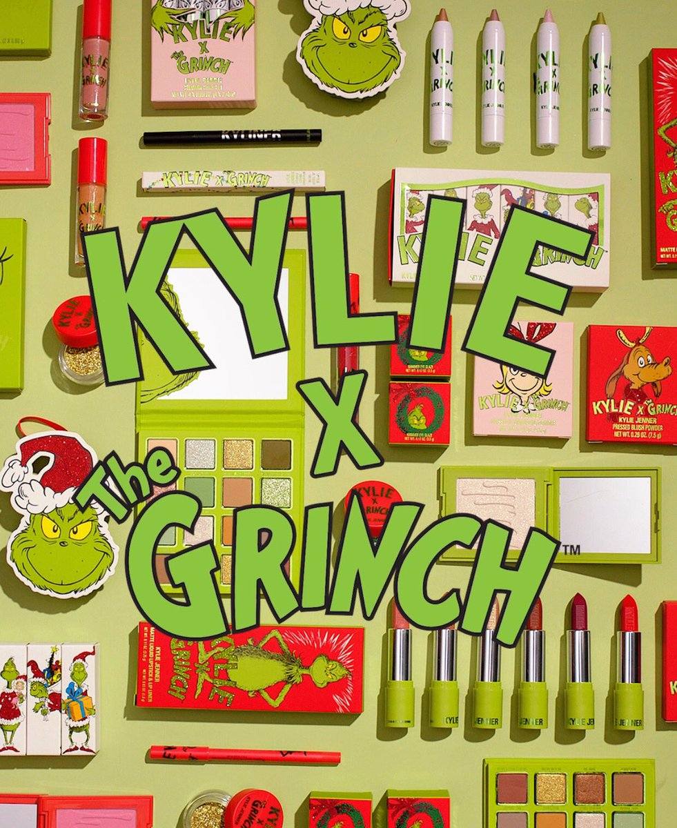 The Kylie x Grinch collection sold out! 💚 Thank you so much to everyone who ordered! We're so glad you guys were excited about this collection. Thank you for all of the love. 🎄
