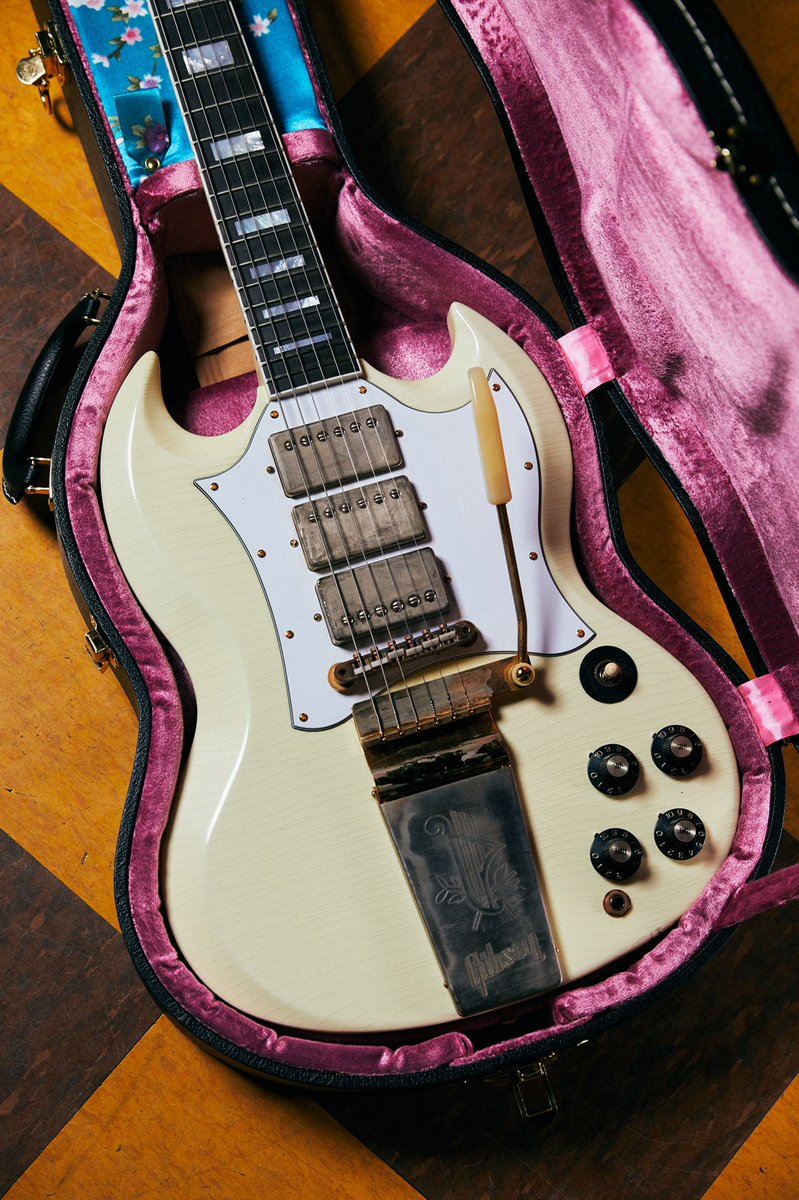 The Jimi Hendrix™ 1967 SG Custom features a Murphy Lab Aged Polaris White finish and aged gold hardware. Only 150 guitars will be created as part of this very special run, hand-made by the expert luthiers and craftspeople of the Gibson Custom Shop in Nashville, Tennessee, USA.