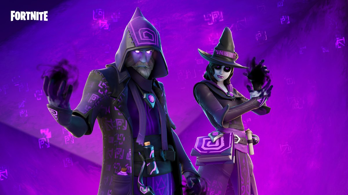 Arcane masters turned dark, its best to hide from their gaze.  Get the new Styles for Castor and Elmira in the Item Shop now!
