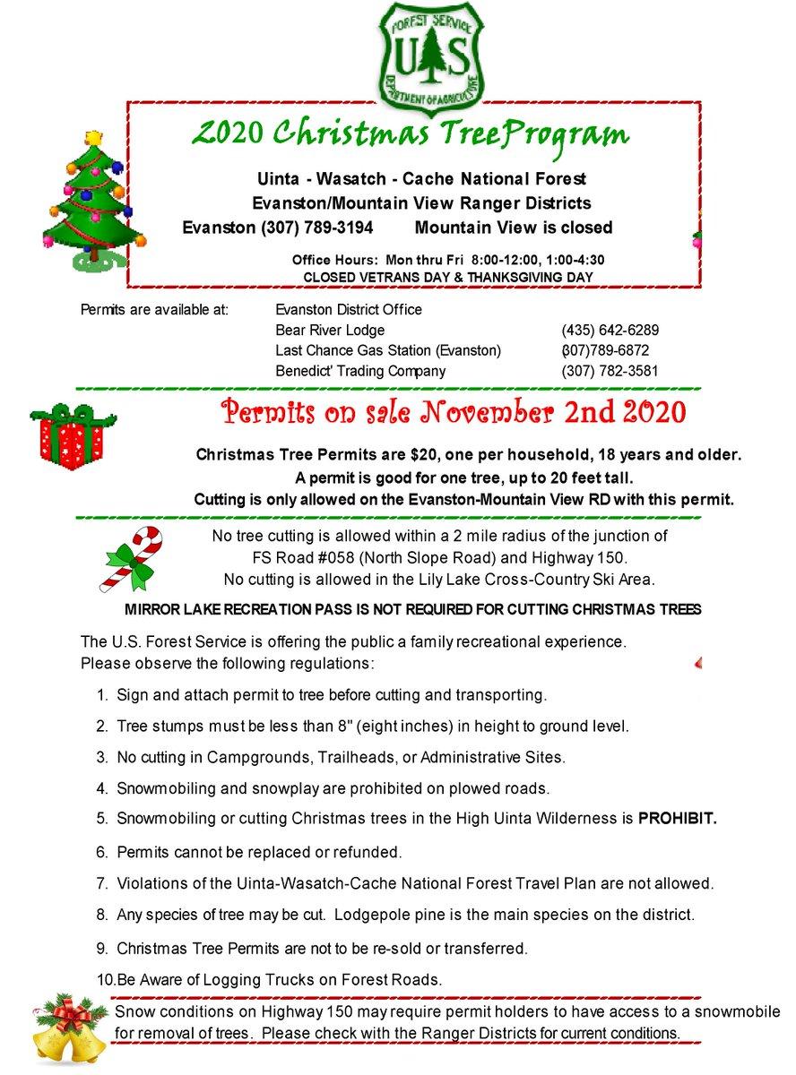 2020 Wasatch Christmas Tree Permit Uinta Wasatch Cache NF (@UWCNF) | Twitter