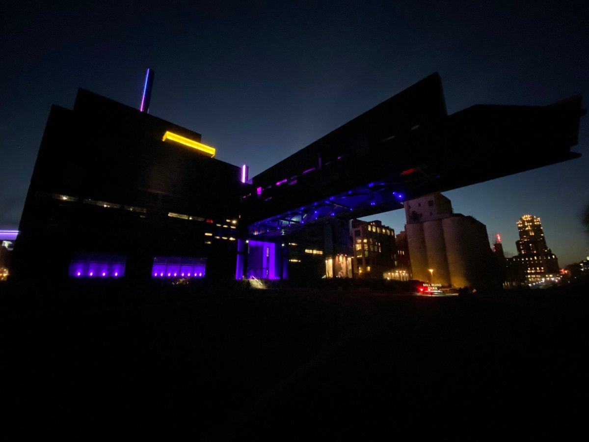 Alongside other Minnesota landmarks, we're illuminating our building in purple tonight in honor of those who have lost their lives to COVID-19 and the frontline workers who continue to fight the pandemic. We're in this together, Minnesota. #MNTogether