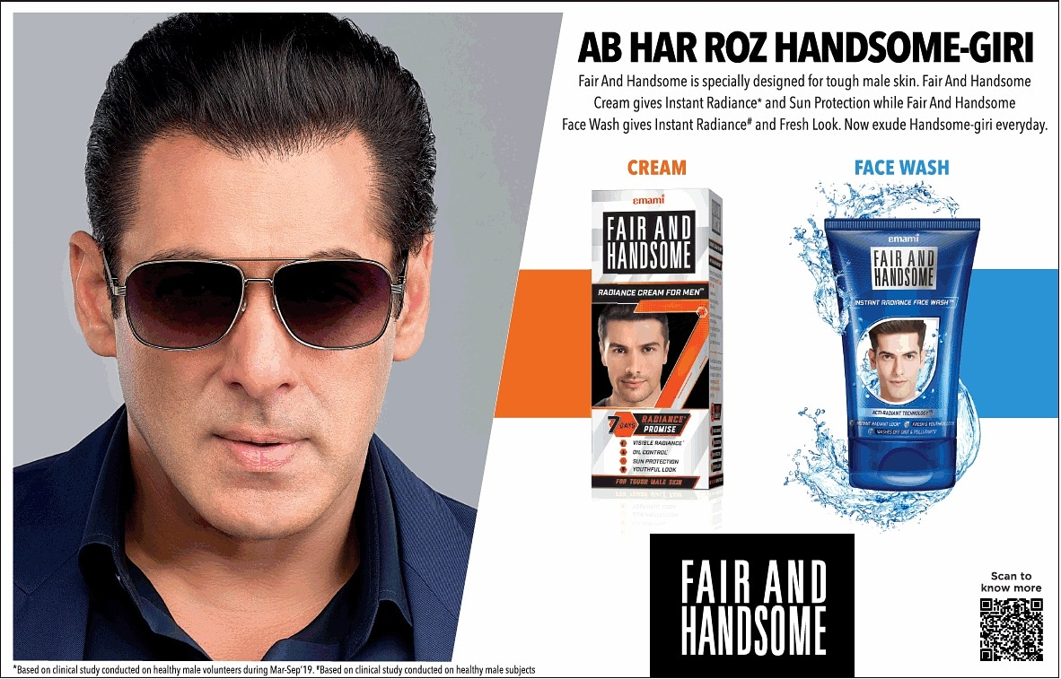 """@SalmanKhan's new Fair & #Handsome Ad Most #Handsome Man in The World 😏😉🥰❤✨✨ : #Sallu #BhaiJaan #Salman_Sir ❤ #Radhe #TiGER3 #Kick2 #Sultan  #BB14 #BiggBoss14 