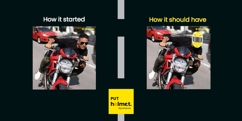 Bad Cop  |  Good Cop  #HowItStarted #Akki #AkshayKumar #Sooryavanshi  #RohitShetty #PutHelmet #RideSafe #RoadSafety #Helmet #SafetyGear