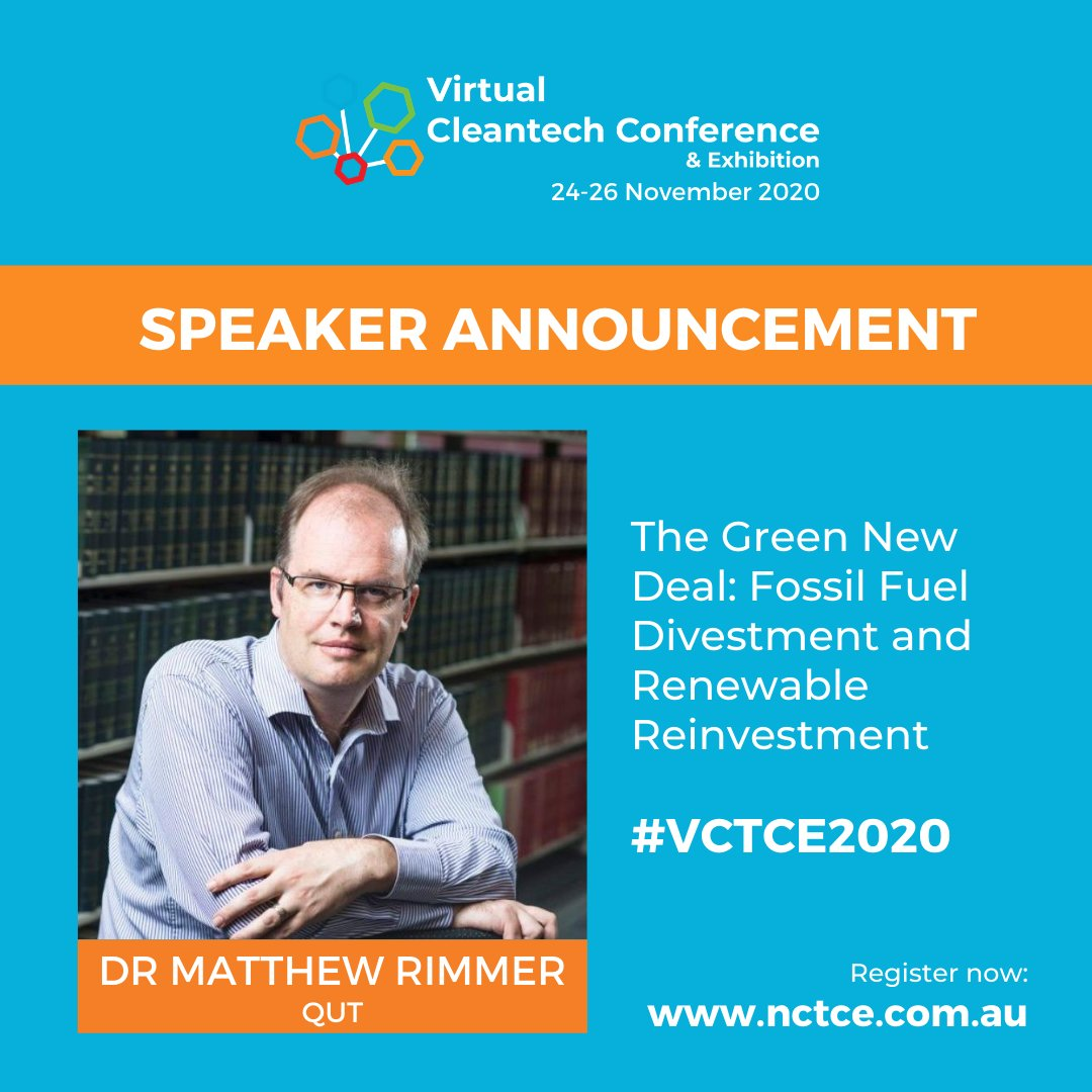 I'm speaking on the Green New Deal at the National Cleantech Conference on the 24th November 2020.  #cleantech  #greenenergy  #climate  #divestment  #renewables  #reinvestment  #greennewdeal  #uspol  #auspol  #cdnpoli  @NCTCE2021 c  @IFE_QUT