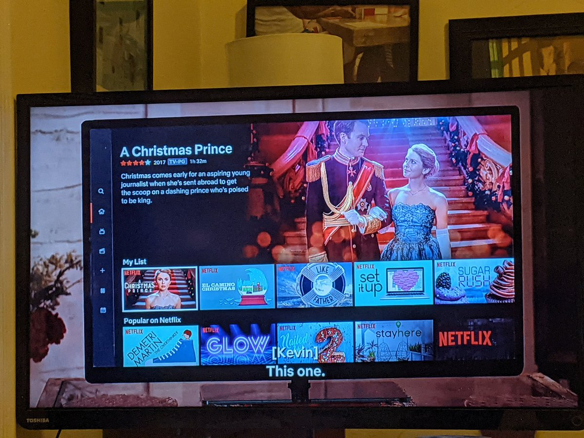 Ok in #ThePrincessSwitch, Kevin & Margaret (pretending to be Stacey) watch #AChristmasPrince. But in #ThePrincessSwitch2, Amber, Richard and the baby are at Margaret's coronation, meaning they're real people. So is the Christmas Prince series a documentary in this universe???