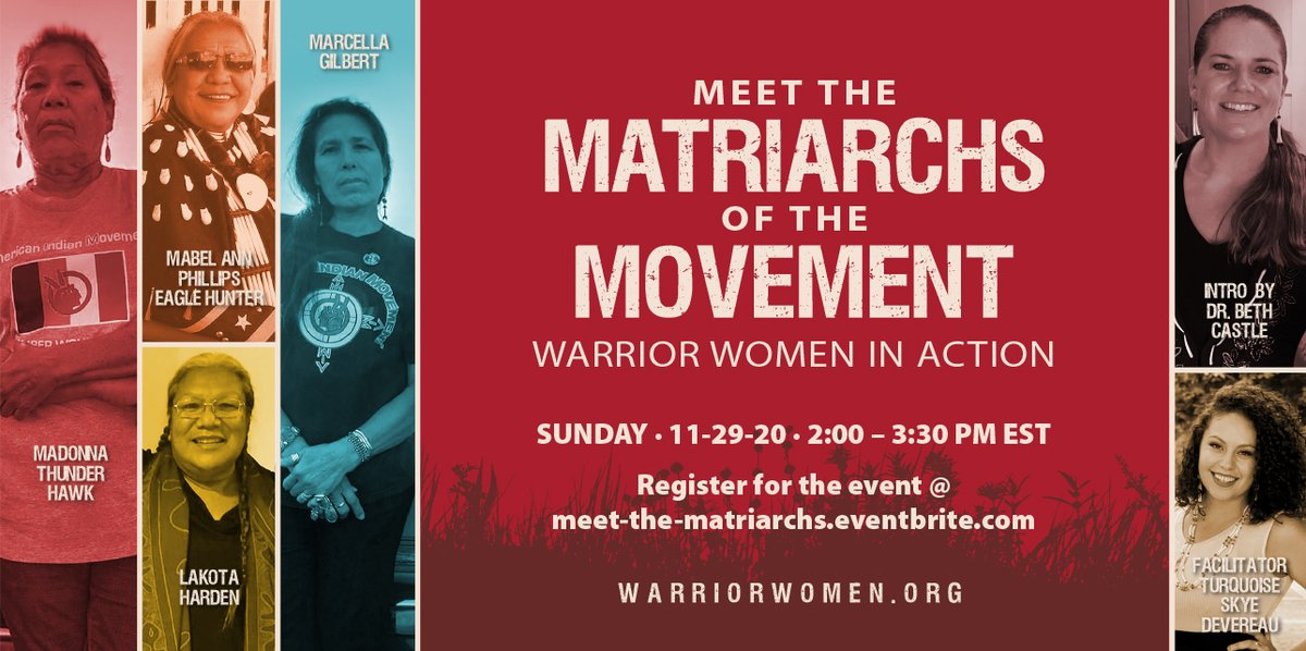 Our Matriarchs are gathering to share stories, drop truth bombs & answer questions in the 1st of a monthly check-in series. Expect real convo about matriarchy, decolonizing, kinship, healing mother earth & being in it for the long haul. Register at meet-the-matriarchs.eventbrite.com