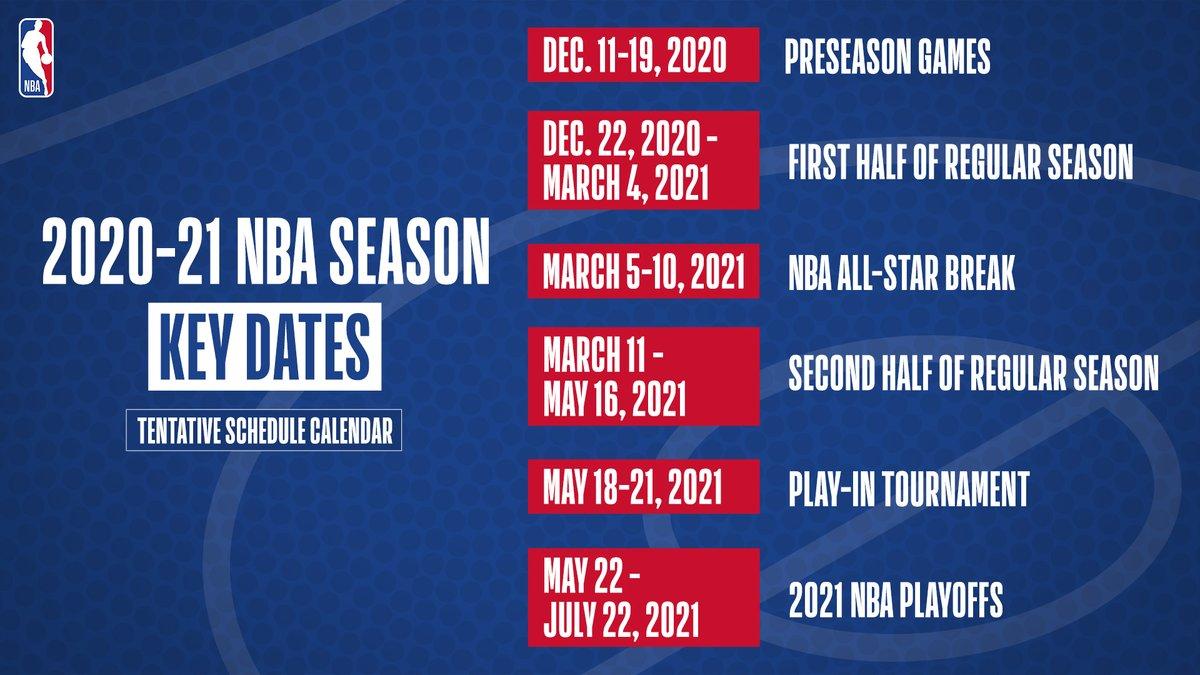 MARK YOUR CALENDAR!  2020-21 NBA Season Key Dates 🗓️
