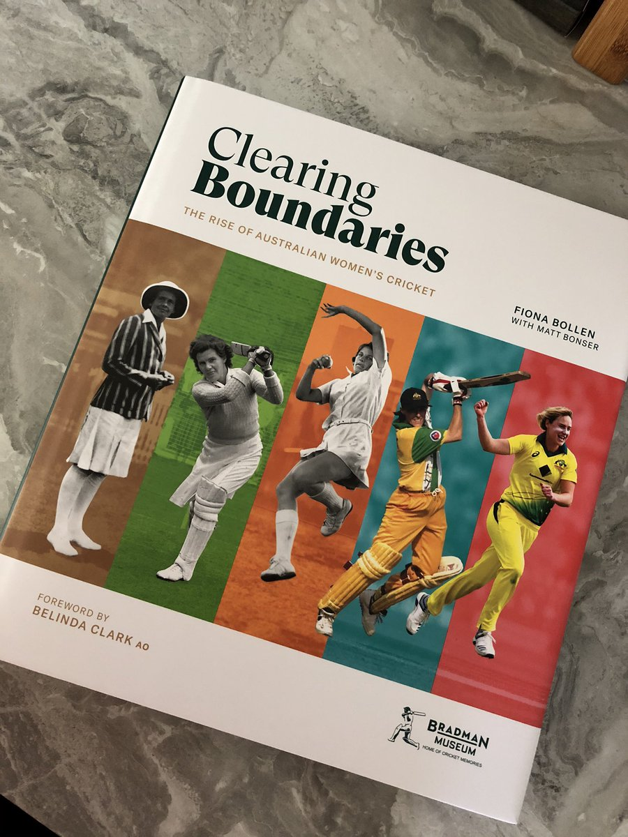 Excited that this amazing book 📚 is going to be launched 🚀 @scg next Wednesday before the first semi of the @WBBL! Important to celebrate, acknowledge & learn about the history of our great game. A book like this is a rarity in the women's game!!