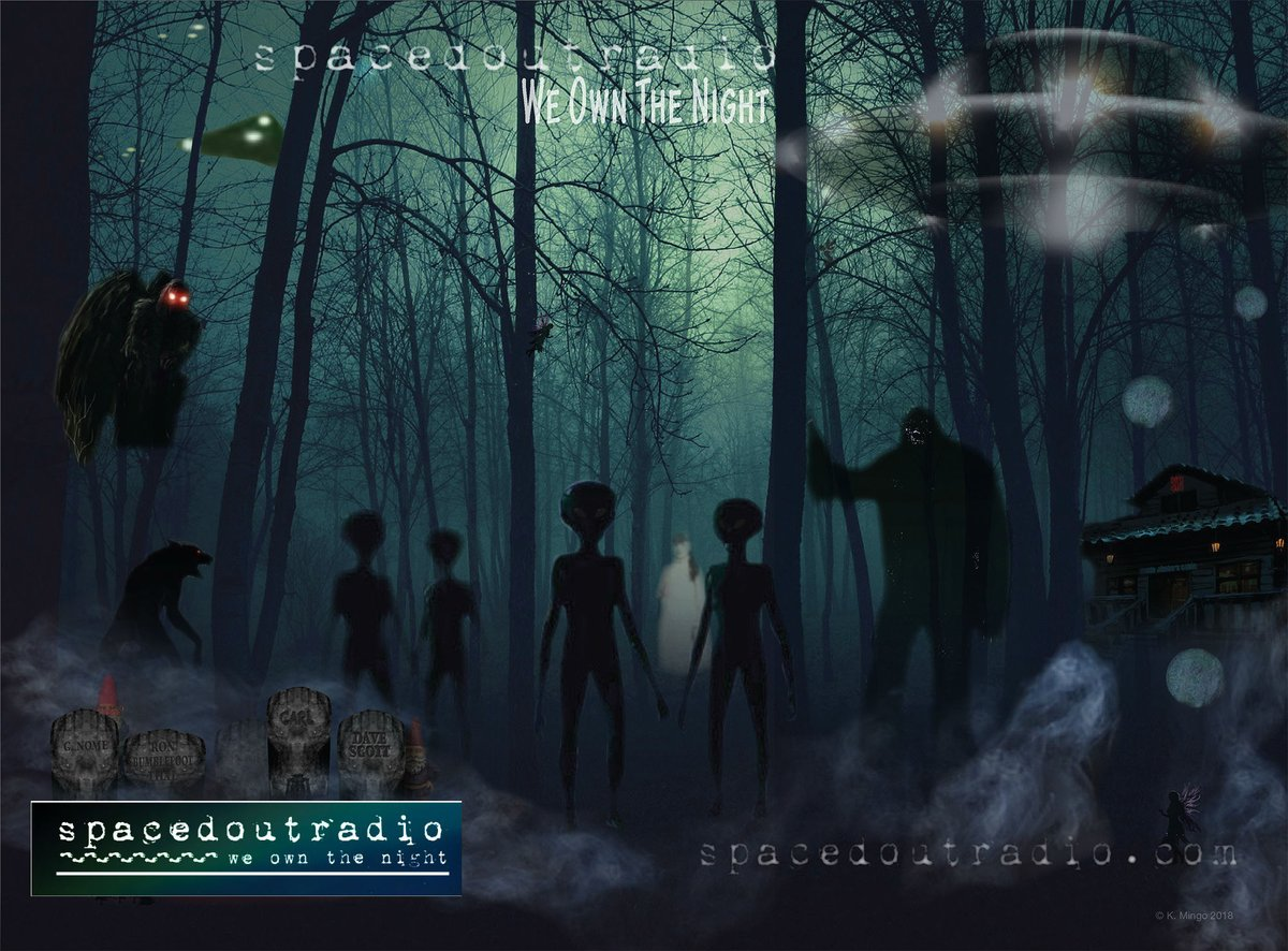 #SpacedOutRadio with @DaveScottSOR is live.  @VarlaVentura is back talking #Cryptids #Monsters #Legends #Folklore #Paranormal at   #WeOwnTheNight @TalkStreamLive @_ParanormalApp @ParanoiaMag @KpnlRadio @Freedom_Slips