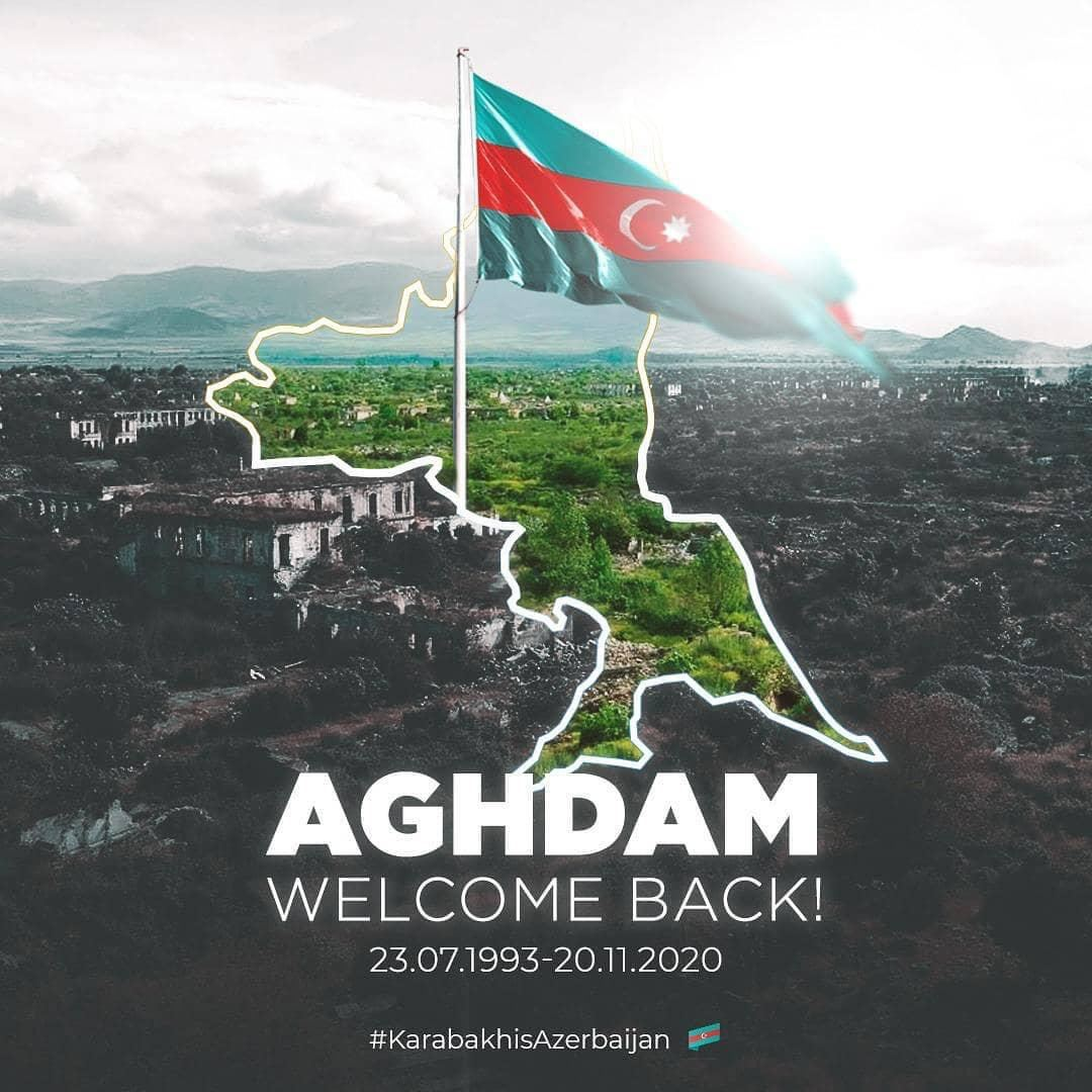 Aghdam, you are free now! You are back home! We will heal your wounds and we will rebuild together! #KarabakhisAzerbaijan