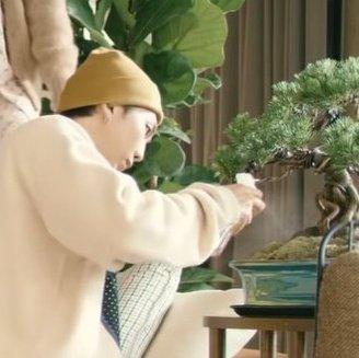 Tin Í‹´ On Twitter But Namjoon Watering His Bonsai Makes Me Tears Up Already