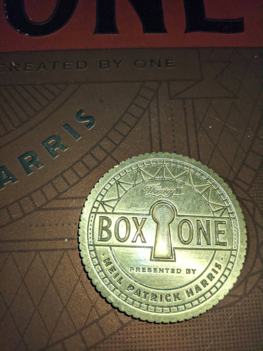 Just solved #boxone, it was epic! @ActuallyNPH @theory11