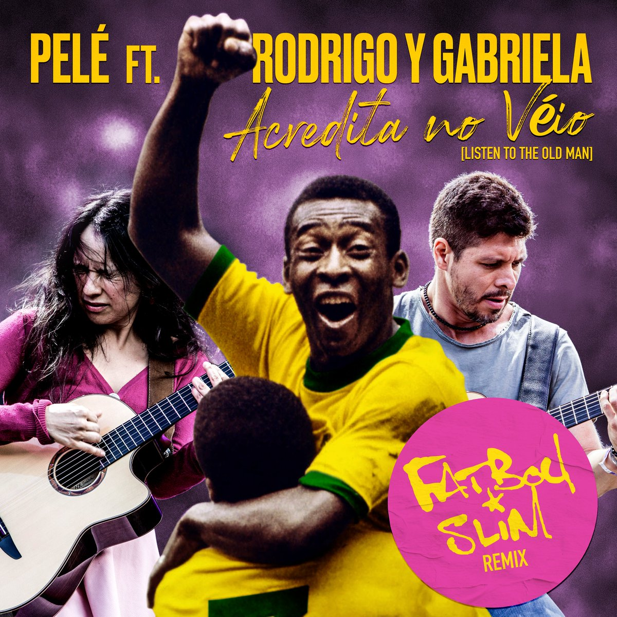 🆕 on @SportPlaylists!  @Pele's 'Acredita No Véio (feat. @rodgab)' has been given the remix treatment by the one and only @FatboySlim 🎧  #Pelé #FatboySlim #Pele80 #Music #NewMusicFriday @Rubyworks @ShootMusic 🇧🇷