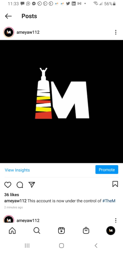 Wow! It seems @ameyaw112 had his Instagram hacked during a live interview with big brother naija housemate @symply_tacha.  Tacha's page was also hacked . This is the the message the hackers left https://t.co/fEpePgksQq
