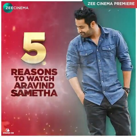 We already know you don't need any more reasons to watch #AravindSametha, but we're listing a few here anyway!  Dekhiye the Zee Cinema Premiere of Aravind Sametha on Saturday, 21st Nov at 8 PM, sirf #ZeeCinema par.   #AravindSamethaOnZeeCinema @tarak9999 @hegdepooja