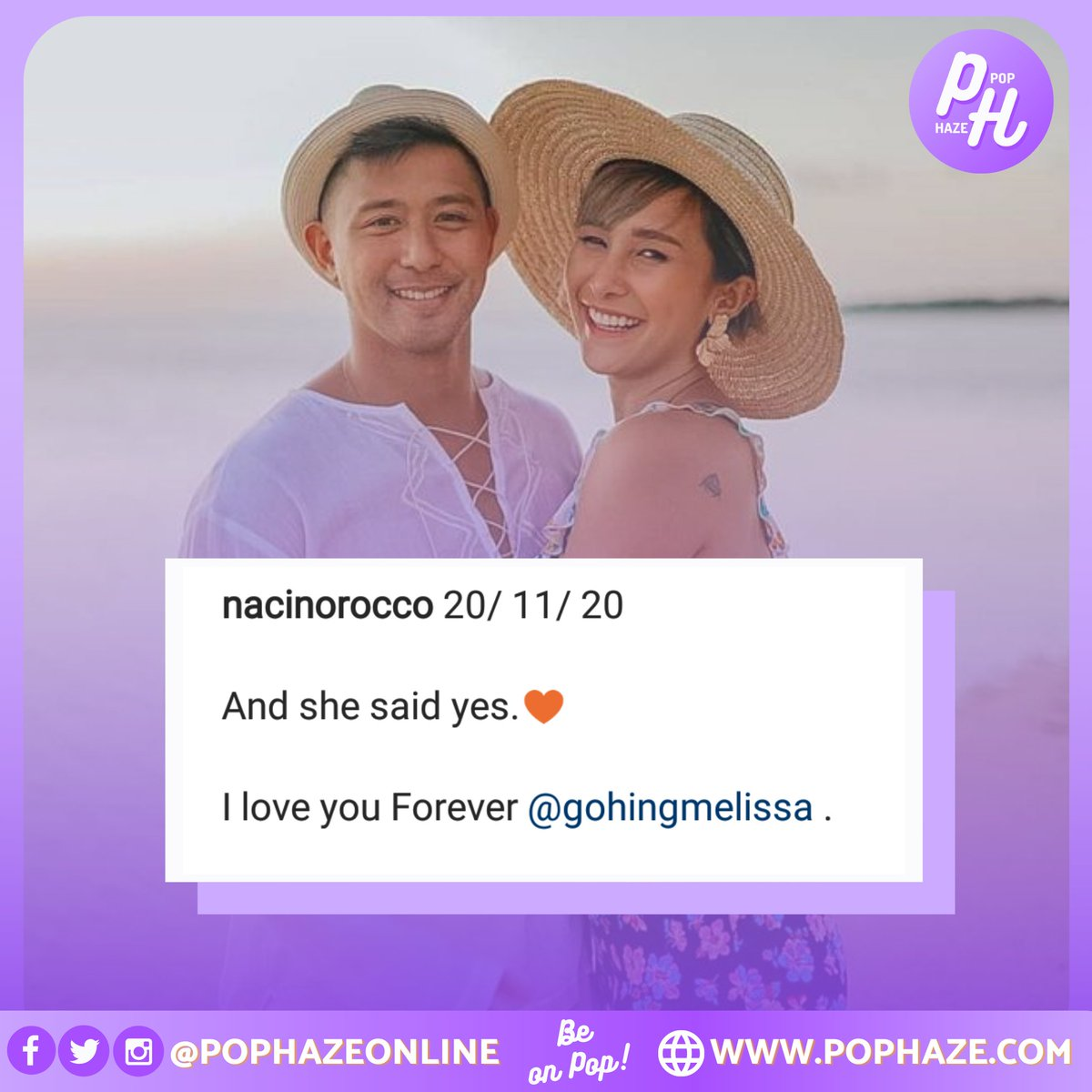 Rocco Nacino and Melissa Gohing are now engaged.💜