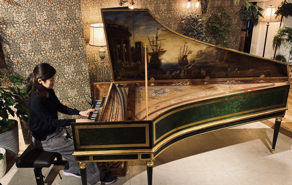 ベルベットサンにチェンバロが入りました!今夜は大木和音さんのチェンバロコンサートを配信いたします。是非ご覧ください◎CD付きドネーションチケットも用意しました。是非!