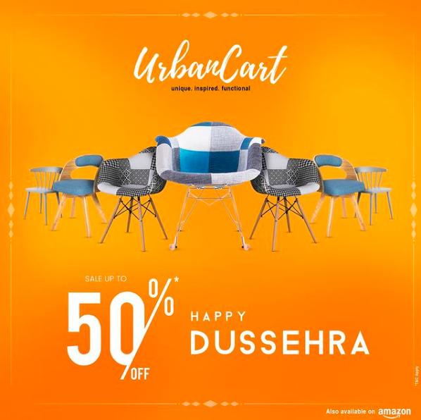 This #dussehra bring Happiness at Home. Shop with us and Avail up to 50% Off on all lifestyle and Home Decor Products.  Your products delivered with 100% safety. #HappyShopping #happyfurniture #happydussehra #celebratingdussehra #furniture #homedecor #lifestyle #sale #flashsale https://t.co/nu7KxKSPET
