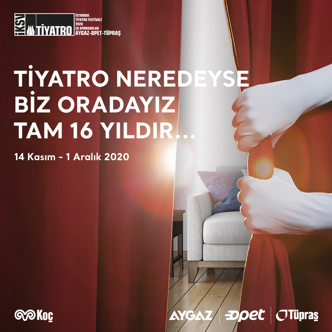 Perde aralanıyor, oyun başlıyor. Tüm enerjimizi 24. İstanbul Tiyatro Festivali'ne vermekten mutluluk duyuyoruz. #tiyatroneredeysebizoradayız #istanbultiyatrofestivali #enerjimiztiyatroya
