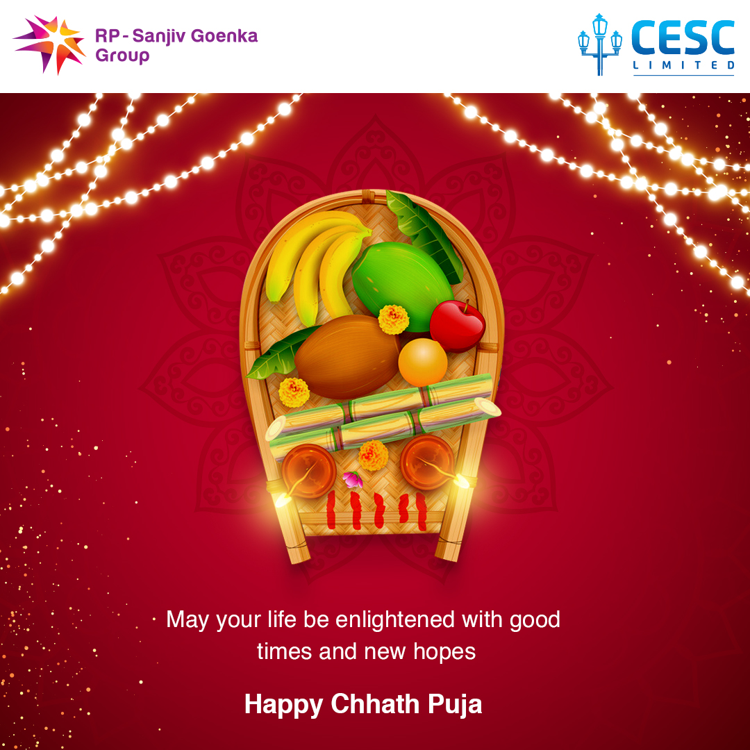May this festival bring good luck and prosperity and fill your days ahead with happiness. Happy Chhath Puja.😊 #chhathpuja #chhath #festivalseason #Puja #Bihar #Thekua #CESC #CESClimited #chhath2020 https://t.co/i20IbW45ra