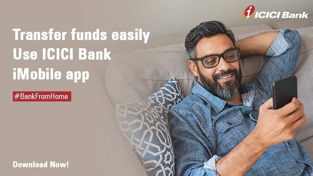 Transfer funds easily using the #ICICIBank iMobile app and experience ease and convenience of conducting banking from the comfort of your home.   Download the app here:  #BankFromHome