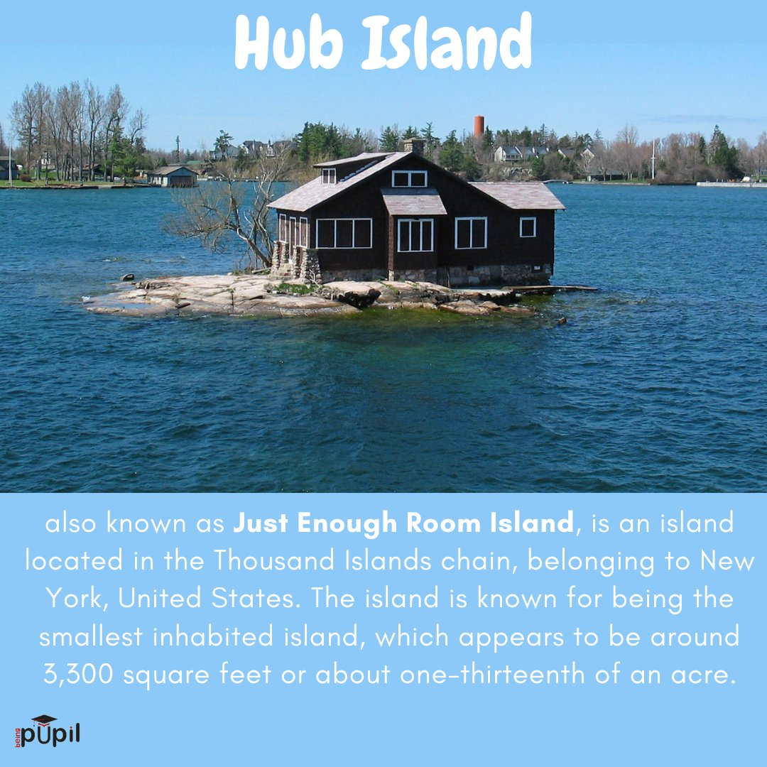 Just Enough Room Island! #worl #Fact #Student_Of_Life