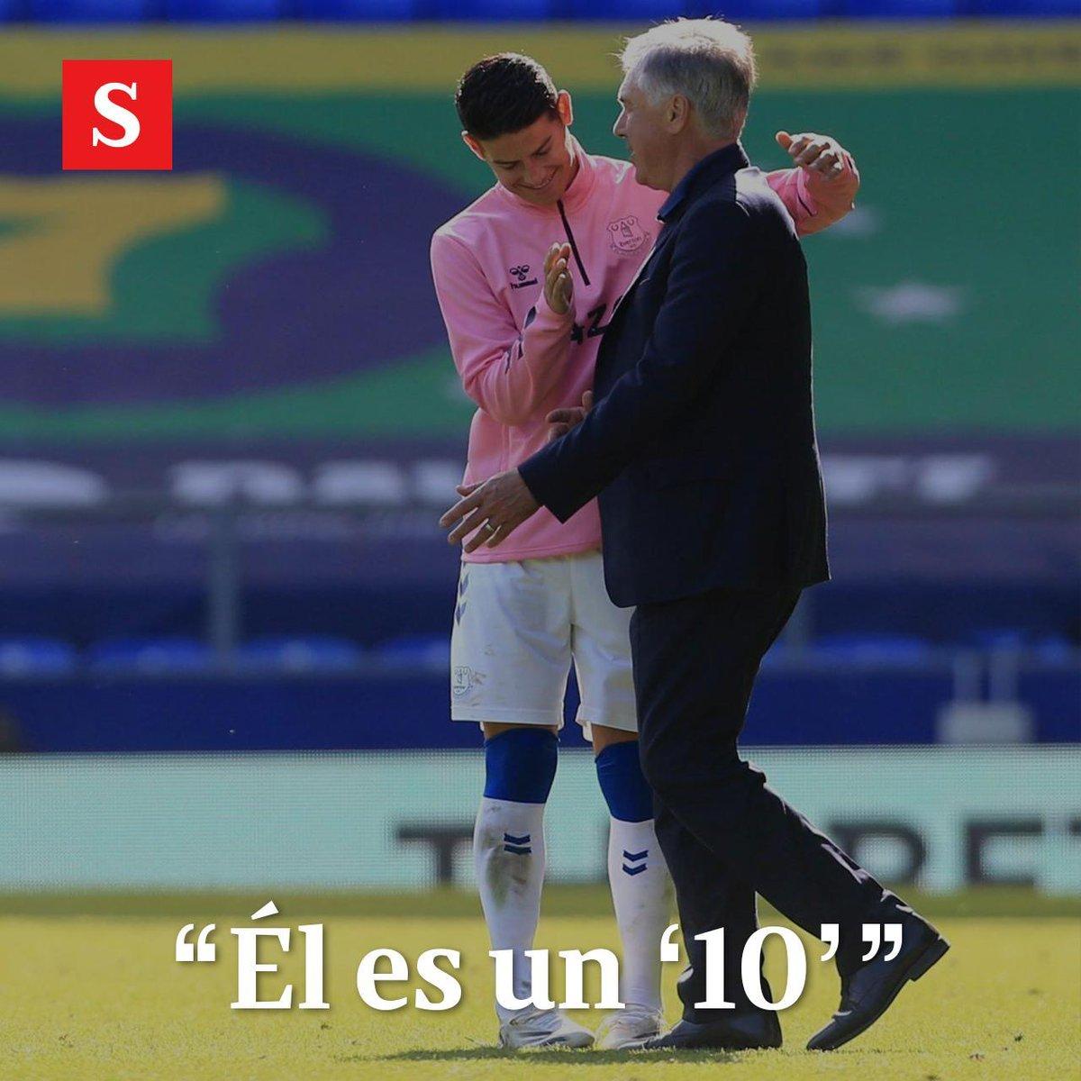 El escándalo de la supuesta pelea al interior de la Selección Colombia, en la que habría estado involucrado James Rodríguez, llegó hasta Inglaterra. En una rueda de prensa, el técnico Carlo Ancelotti fue cuestionado sobre el tema. https://t.co/VZcb5FcyQp https://t.co/tlWeNnvHiH