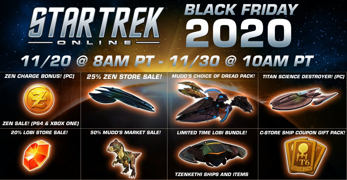 Star Trek Online On Twitter We Re Having One Of Our Biggest Black Friday Sales Ever Starting Right Now Save In Almost Every In Game Store And Grab Special Packs Only Available During