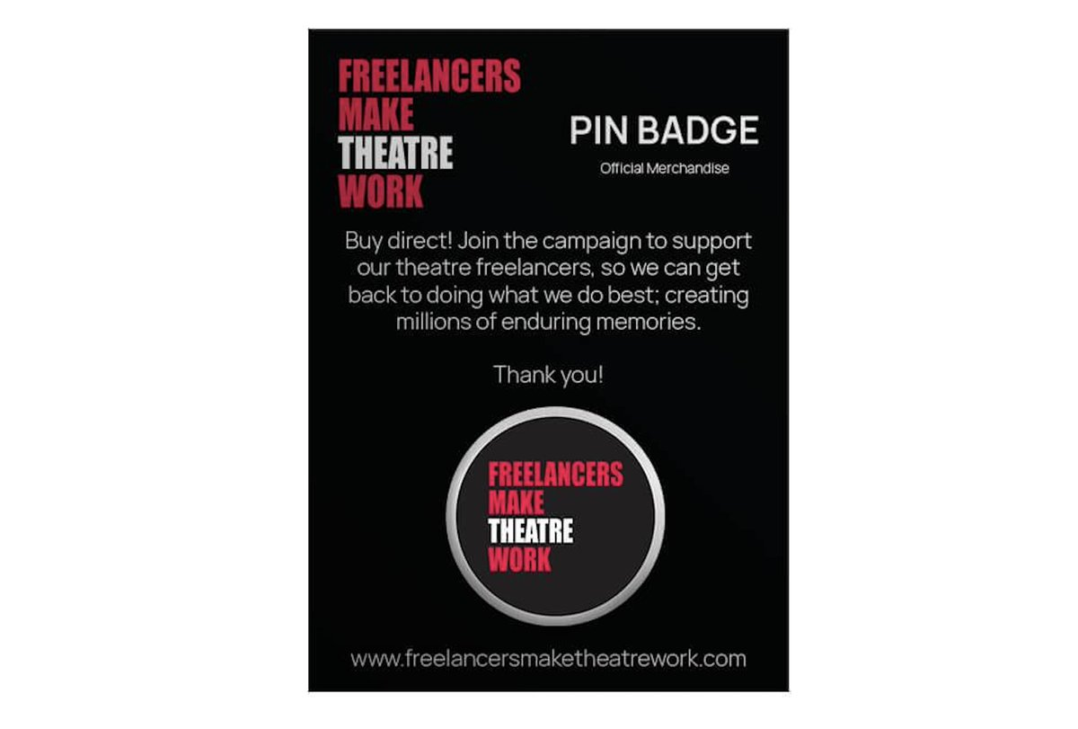 Theatre Freelancers! You are ALL amazing! If you are fortunate enough to be in work or have some lined up, please, please grab a #FreelancersMakeTheatreWork badge or more to show your support for ALL Theatre Freelancers fmtwstore.com Please RT for your theatre friends