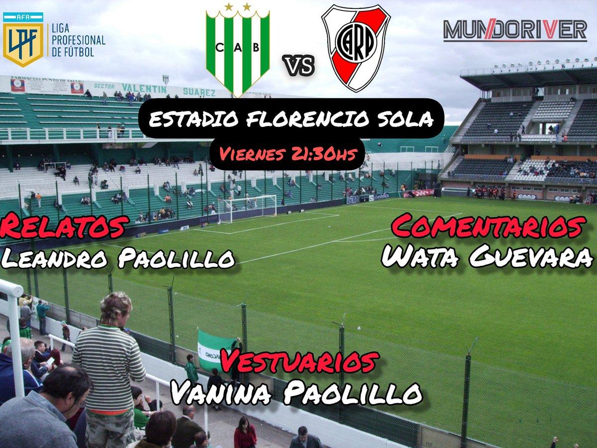 #HOYJUEGARIVER  ⚽️ River Plate vs. Banfield 🏆 Copa @LigaAFA 🗓 Fecha 4 - Zona 3 🕤 21:30 🏟 Florencio Sola 📺 Fox Sports Premium 🔎 Fernando Rapallini   Relatos: @LeaPaolillo  Comentarios: @GuevaraWata  Vestuarios: @VaniPaolillo   📲 Por IG Live  https://t.co/i2Ralqi9Cf https://t.co/g6acMWYu1T
