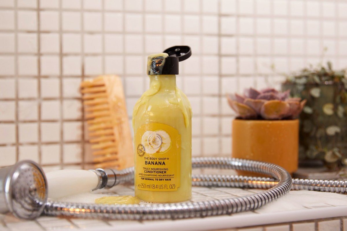 Flaunt your hair with our Banana Truly Nourishing Conditioner that deeply nourishes hair and leaves it feeling softer and looking shinier. Enriched with deliciously ripe Community Trade organic banana puree. Shop Online, in-store or via home delivery call +917042004412 #TBSInd