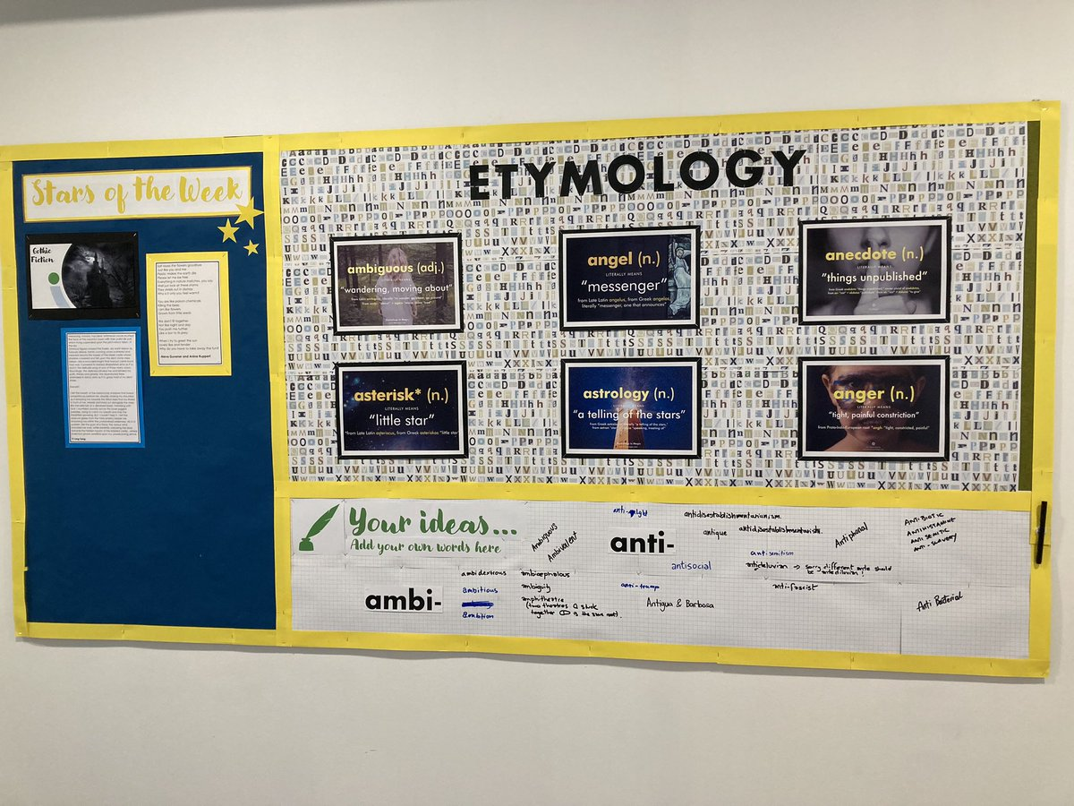 Glad to see the students interacting with the display🙂 Thanks @nunu_1973 for your hard work #teamenglish