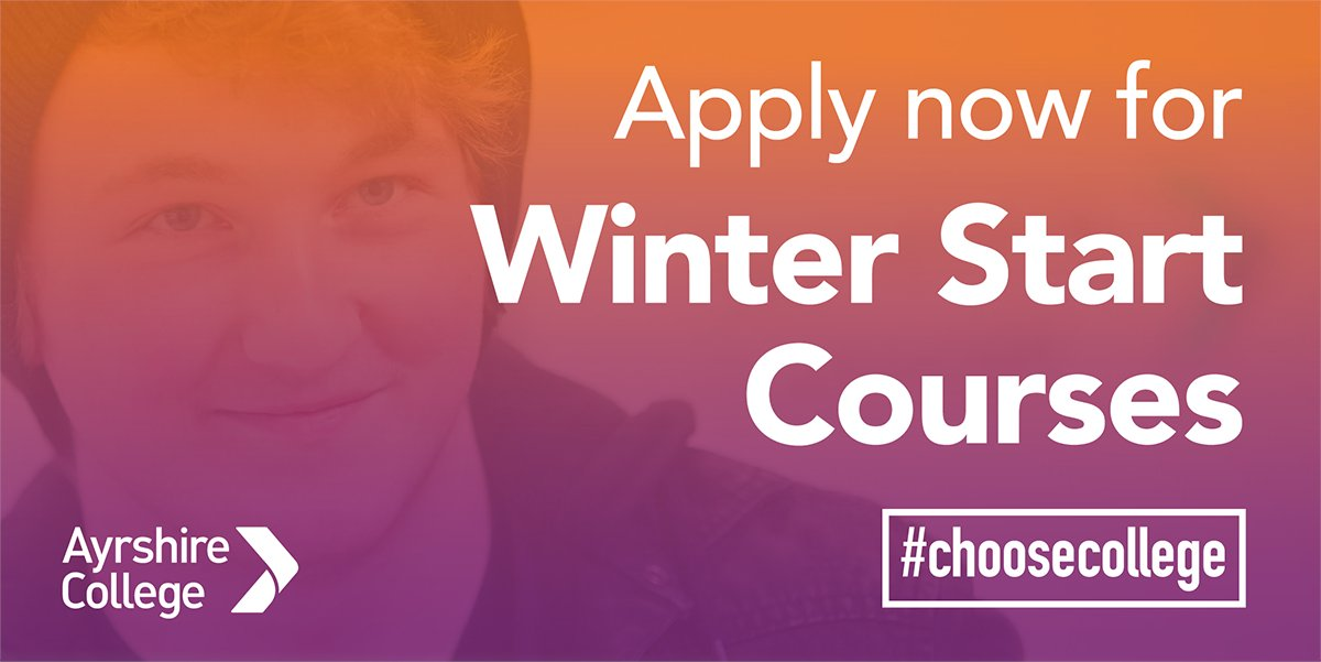 Apply now! Our winter start courses are open on our website bit.ly/3n31x7s